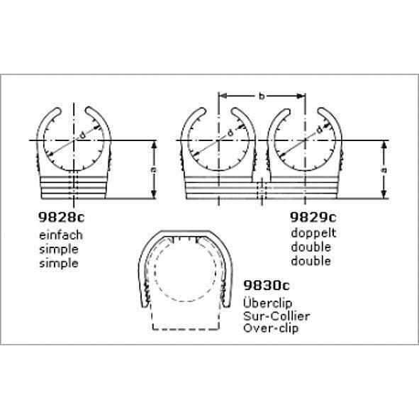 9826c rohrclip f r cu rohr einfach mit ms gew h lse befestigungstechnik sonstiges katalog. Black Bedroom Furniture Sets. Home Design Ideas